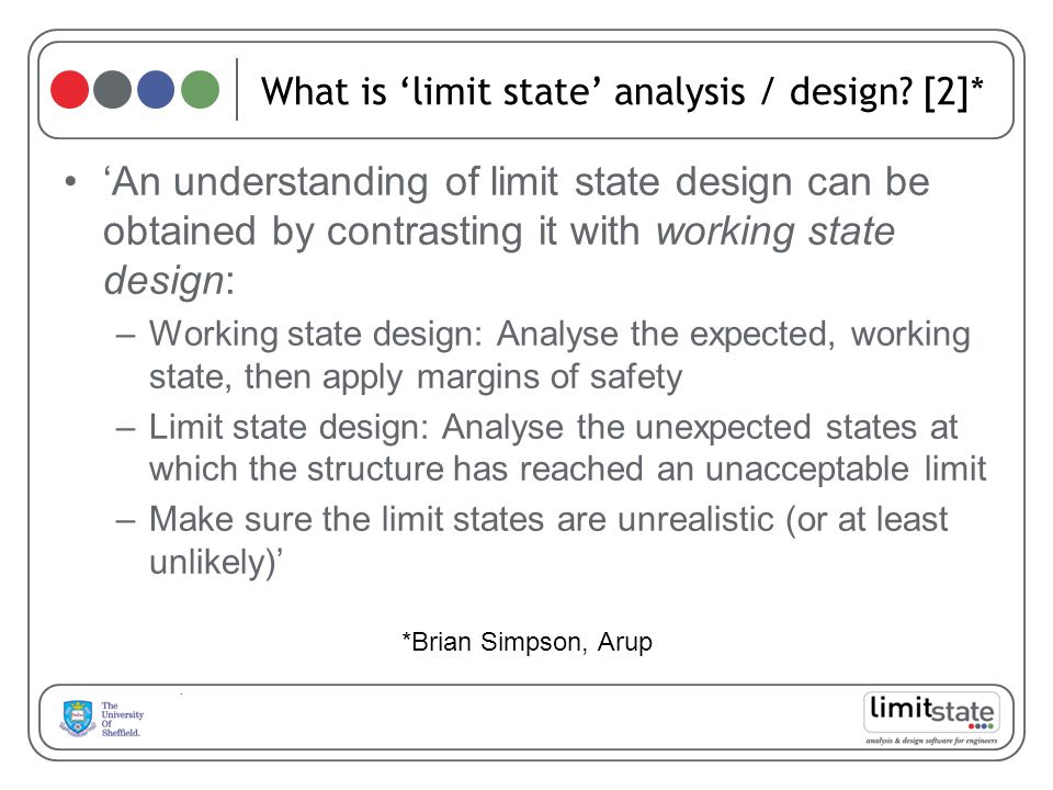 What is 'limit state' analysis / design [2]*